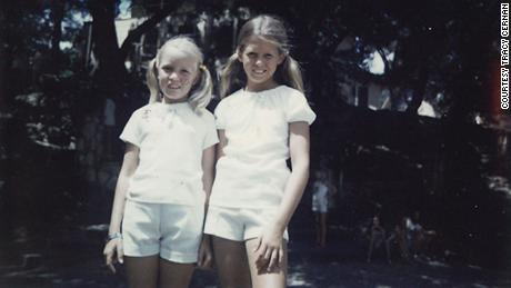 Gwen Griffin (left) and Tracy Cernan pictured at summer camp. Along with Amy Bean, the three girls were close friends and remain so today.