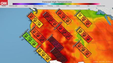 Temperatures in the West heat up midweek