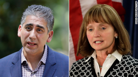 Republicans, including Dr. Manny Sethi, at left, an orthopedic trauma surgeon at Vanderbilt University Medical Center, and former state Speaker Beth Harwell, at right, have told CNN they'd consider running for the House if Rep. Jim Cooper's district became redder.