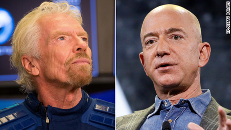 Starship troopers Bezos and Branson, reporting for duty