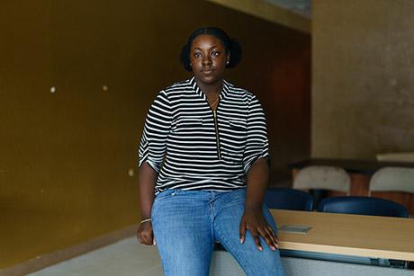 Chardonnay Jackson, 14, says a classmate was recently shot.