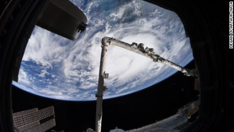 As tropical storm Elsa from the ISS on July 4, 2021.