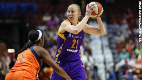 Ann Wauters in action during the 2016 WNBA  season.