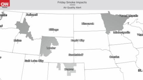Air quality alerts in effect due to wildfire smoke