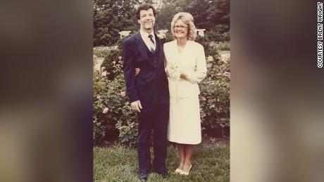 Newlyweds Gene and Karen Jeter, shown on their wedding day, were killed in the collapse two weeks later.