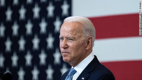 President Joe Biden speaks in support of voting rights at the National Constitution Center on July 13, 2021, in Philadelphia.