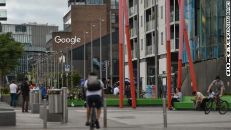 A view of Google's building in Dublin's Grand Canal area.