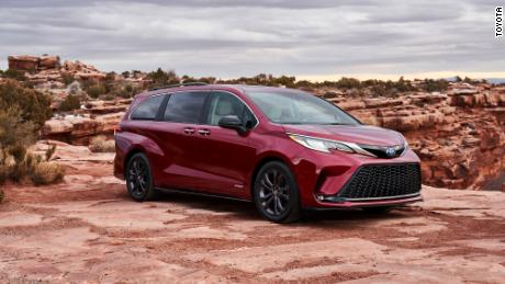 Toyota Sienna designers said they were influenced by the back end of the Toyota Supra sports car and the front of a Japanese bullet train.