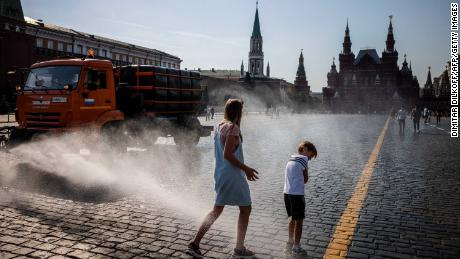 Moscow was hit by a historic heat wave last week, with temperatures reaching a 120-year record.