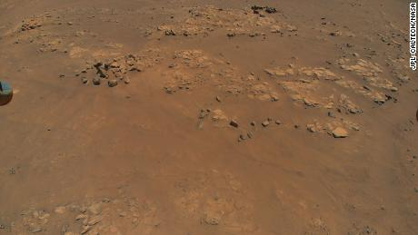 """NASA's Ingenuity Mars Helicopter spotted this location, nicknamed """"Raised Ridges,"""" during its ninth flight, on July 5. Scientists hope to visit """"Raised Ridges"""" with the Perseverance rover in the future."""
