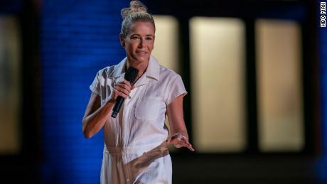 "Chelsea Handler in her ""Evolution"" comedy special."