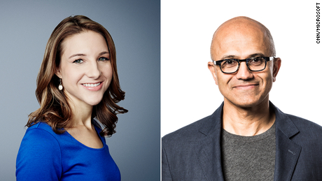 Kathryn Vasel (Senior writer, CNN Business) will speak with Microsoft CEO Satya Nadella during the Foreseeable Future/Workplace Revolution event on 7/29.