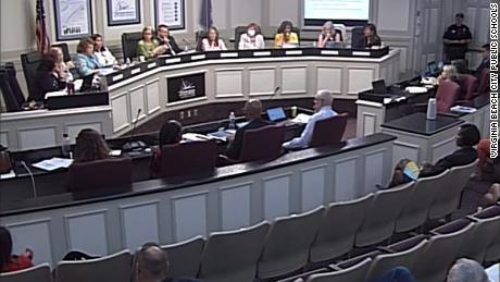Virginia Beach school board votes against making masks optional following heated hourslong meeting