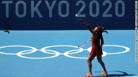 Osaka put in an impressive serving performance againt Zheng.