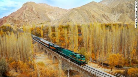 North line, Zarrindasht-Mahabad route, Commuter Passenger Train(GM Locomotive)