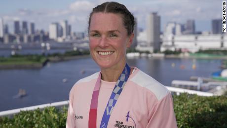 Bermuda's Flora Duffy won gold in the women's triathlon on July 27.
