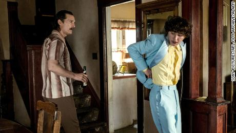Matthew McConaughey, left, plays Wershe Sr., and Richie Merritt plays his son in 'White Boy Rick.'