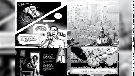 """An illustration from Rep. John Lewis' posthumous graphic novel, """"Run: Book One."""""""