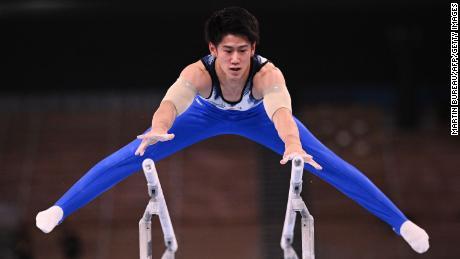 Japan's Daiki Hashimoto won the men's all-around gymnastics final at the Tokyo Olympics Wednesday.