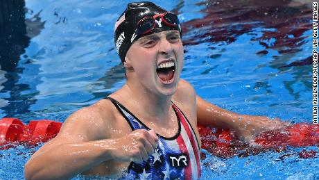 Victory in the 1500m was Ledecky's sixth Olympic gold medal.