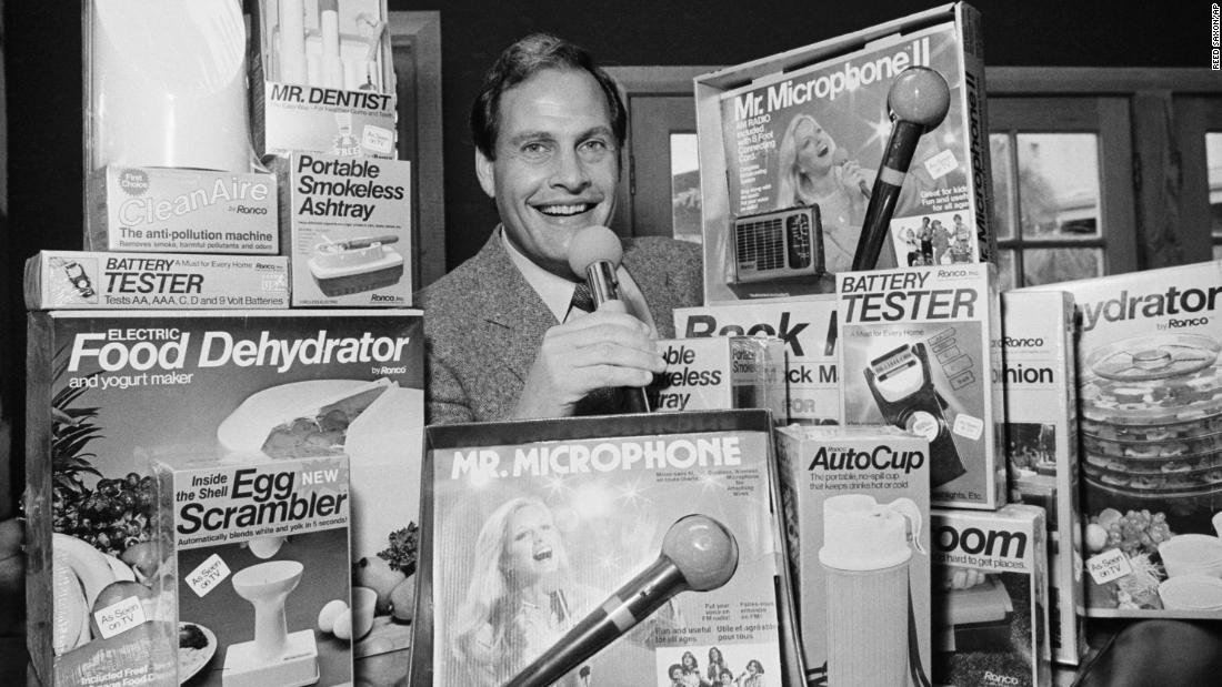 """Infomercial king <a href=""""http://www.cnn.com/2021/07/28/us/ron-popeil-tv-infomercial-dead/index.html"""" target=""""_blank"""">Ron Popeil</a> died July 28 at the age of 86. Although his company Ronco was already a household name in the 1970s, Popeil's fame exploded in the '80s when looser federal regulations on TV ads allowed him to go from brief commercials to 30-minute self-contained """"infomercials,"""" which soon dominated late night and weekend schedules."""