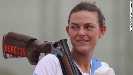 Shooter Alessandra Perilli won San Marino's first ever Olympic medal on Thursday, after clinching a bronze medal in women's trap shooting.