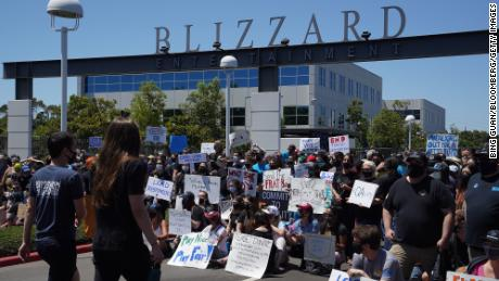 Activision Blizzard employees staged a walkout on Wednesday to protest the company's responses to the lawsuit and demand more equitable treatment for underrepresented staff.
