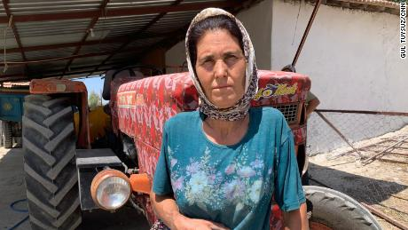 """Gulay Kacar, 48, told CNN: """"Everything is going to burn. Our land, our animals and our house."""""""