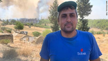 """Namet Atik, 37, said: """"This is the last stand. If we can't contain it, the fire will run for kilometers."""""""