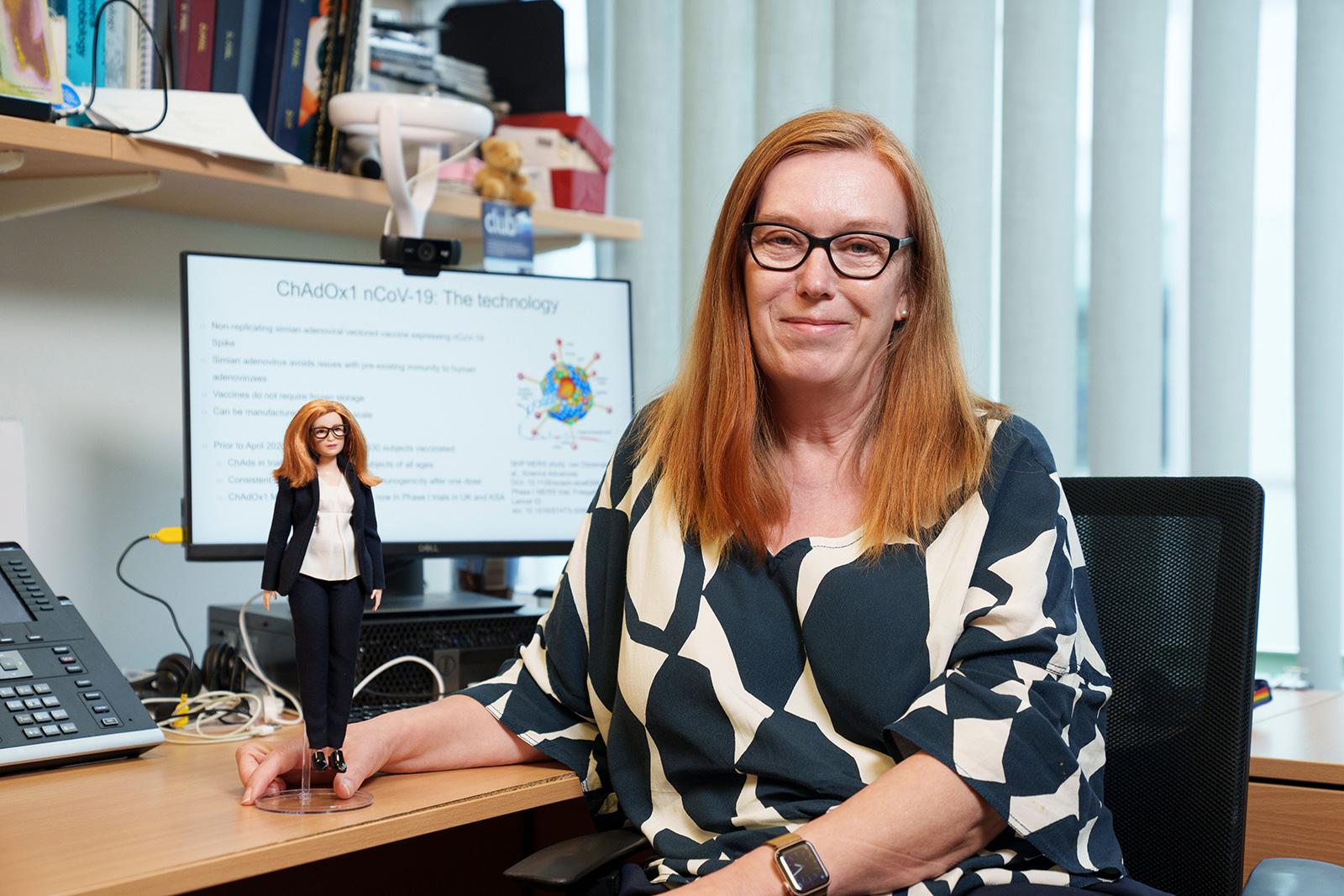 Sarah Gilbert: Barbie debuts doll in likeness of British Covid-19 vaccine  developer - CNN Style