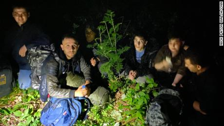 A group of Iraqi Yazidis apprehended in Lithuania. In one 24-hour period, a record 171 were caught.