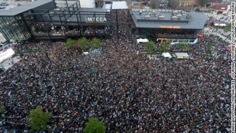 Nearly 500 Covid-19 cases reported in people who crowded Milwaukee Bucks Deer District during NBA playoffs