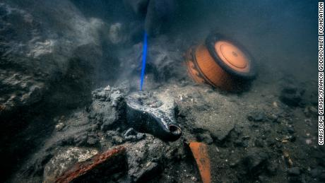 Greek ceramics were found at the site of an ancient sunken city.