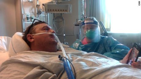 Travis Campbell and his wife, Kellie Campbell, speak to CNN from a hospital in Bristol, Virginia, on Friday.