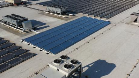 SkyCool's panels somewhat resemble solar panels but actually perform the opposite function.