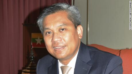 Kyaw Moe Tun, Myanmar's ambassador to the United Nations, in New York on June 28.