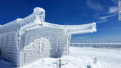 The weather observatory is a regular contender for coldest place on Earth every winter.