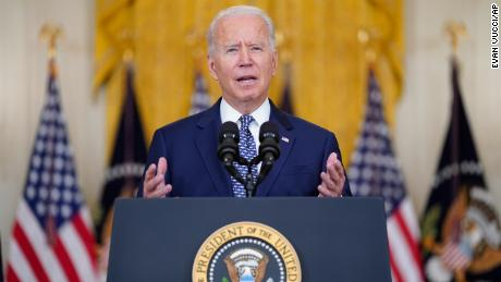 President Joe Biden speaks about the bipartisan infrastructure bill from the East Room of the White House, Tuesday, Aug. 10, 2021, in Washington.