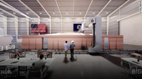This rendering shows the completed module at NASA's Johnson Space Center in Houston.