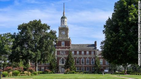 A building on Howard University's campus is pictured in this August 7, 2020 photo.