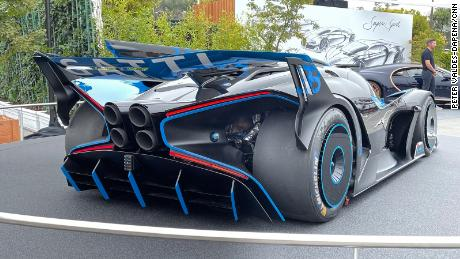 The Bugatti Bolide is designed for track driving only and, so, does not have to comply with road safety regulations.