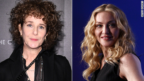 """Debra Winger (left) said in an interview that she left """"A League of Her Own"""" after Madonna (right) was cast."""