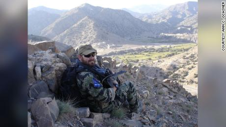 SFC James Ochsner during one of his tours in Afghanistan.