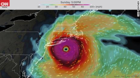 The American forecast model shows Henri impacting New England as a hurricane this weekend.