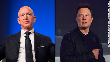 Elon Musk and Jeff Bezos are arguing over the moon already. Here's what it all means