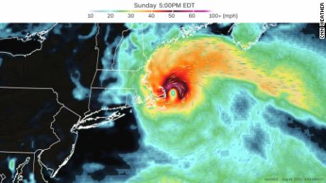 The European forecast model has a weaker storm with the biggest impacts to Cape Cod, Nantucket, and Martha's Vineyard.