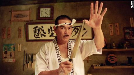 "Sonny Chiba as Hattori Hanzo in Quentin Tarantino's ""Kill Bill: Vol. 1."""