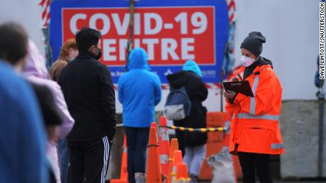 There were lines for  Covid-19 testing in Wellington on Friday.