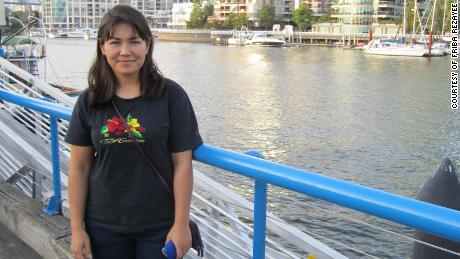 Friba Rezayee in Vancouver, Canada, where she moved in 2011.