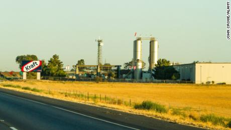 A Kraft Foods cheese Factory in Tulare, California.